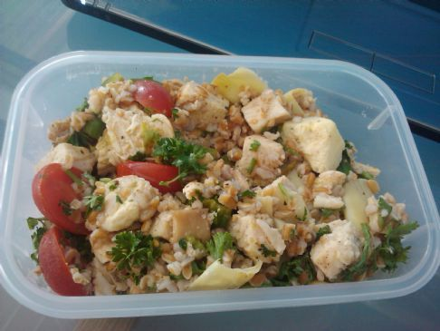 Cold Bulgur and Chicken Salad