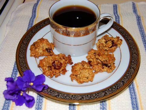 Mini Pumpkin Almond Craisin Coconut Oatmeal Cookies