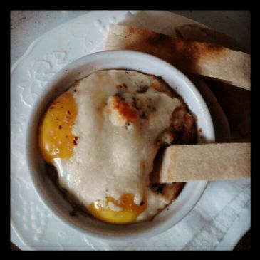 Baked Eggs with Spinach & Red Potatoes