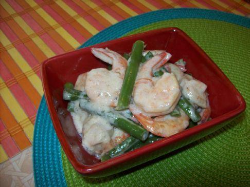Shrimp Cooked in Coconut Milk