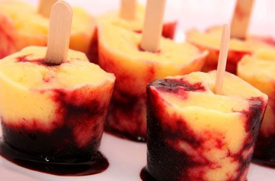 Mango Blackberry Ice Pops