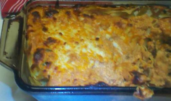 Egg noodle and Ricotta  Ground Beef Bake