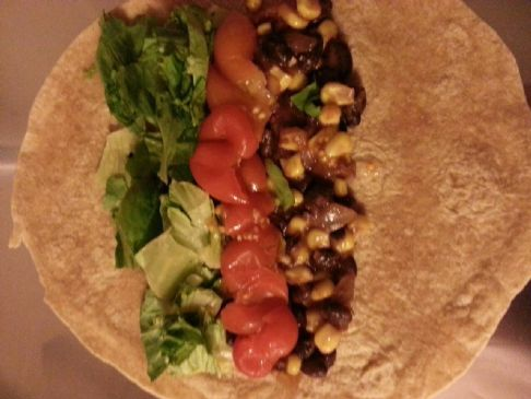Black Bean Corn Salsa Tacos