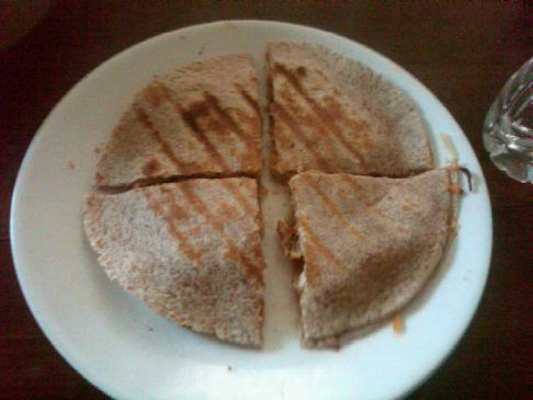 Under 500 calorie George Foreman Grill Quesadillas