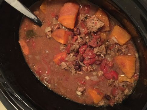 Crockpot Clean Turkey & Sweet Potato Chili