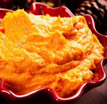 MAshed sweet potatos w/ Orange Marmalade