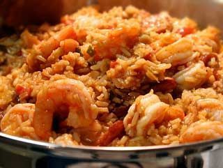 Peppered Chicken and Shrimp Jambalaya