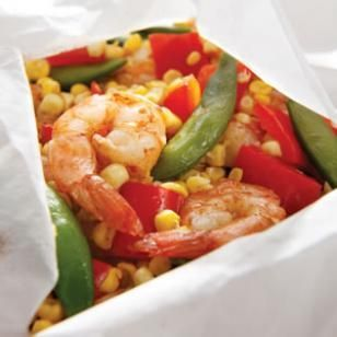 Five-Spice Shrimp & Vegetable Packets