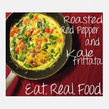 Roasted Red Pepper and Kale Frittata