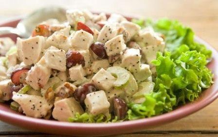 Walnut Grape Chicken Salad