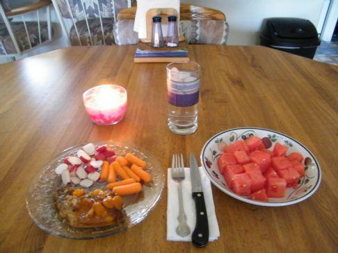 Orange Apricot Pineapple Pork Chops