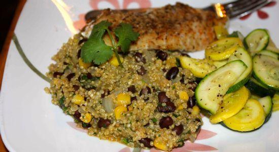 Quinoa with Black Beans & Corn