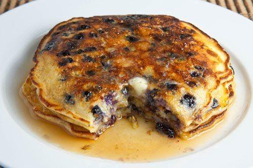 Sugar free blueberry pancakes