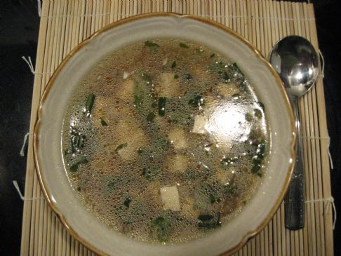 Oriental Tofu Soup - homemade