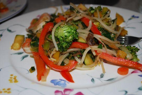 Teriyaki Shrimp & Vegetable Stir fry