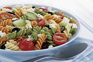 Feta and Vegetable Rotini Salad Recipe