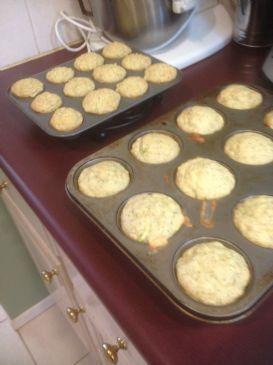 Almond Poppy Zucchinni Muffin