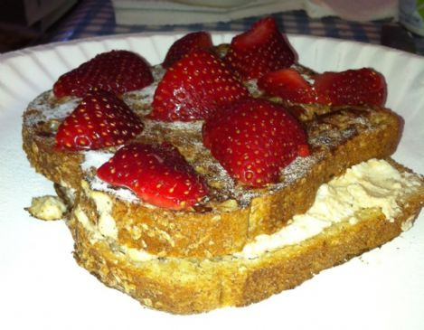 Cheesecake-Stuffed French Toast