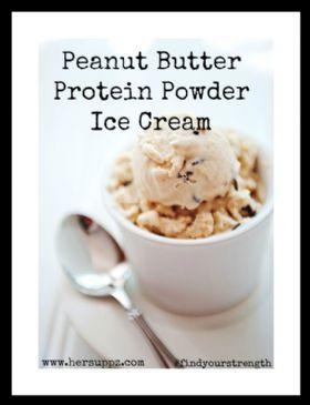 Peanut Butter Protein Powder Ice Cream