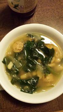 White Bean, Spinach &  Chicken Sausage Soup