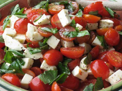 recipe: basil dressing for caprese salad [33]