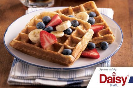 Whole Grain Waffles with Fruit from Daisy Brand®