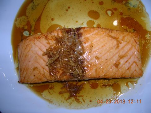 Fried Salmon in soy sauce