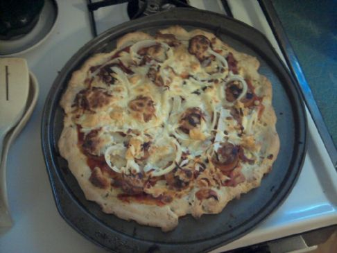 Chicken Sausage and Bacon Pizza-Gluten Free