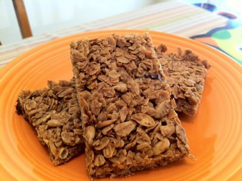 Crunchy Granola Bars with Sunflower & Pumpkin Seeds
