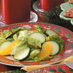 Orange Cucumber Lettuce salad