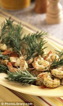 Shrimps sauteed in herbs