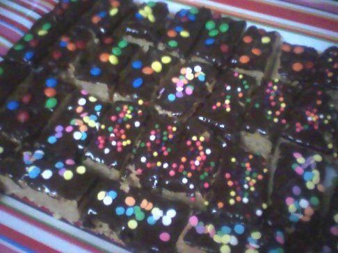 dark chocolate peanut butter bars