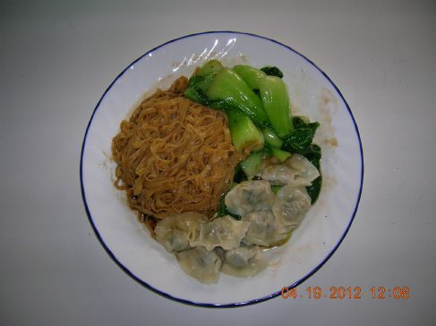Wonton Noodle, Pork & Ginger Mini Wontons & Choy Sum