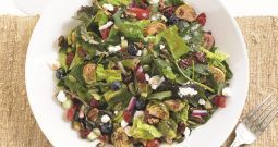 BJs Brewhouse Kale and Brussel Sprout Salad Recipe SparkRecipes