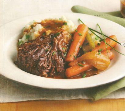Classic Pot Roast with Garlic-thyme Gravy