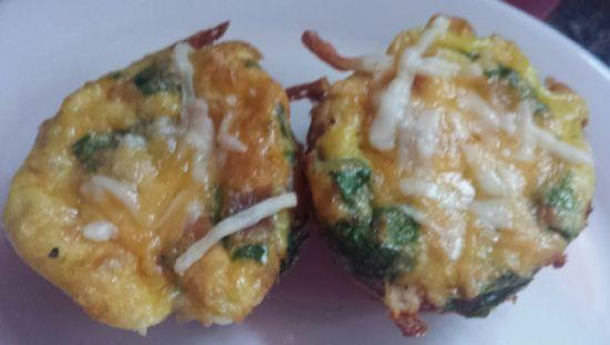 Crust-less Mini Quiche - Chicken, Spinach, Kale