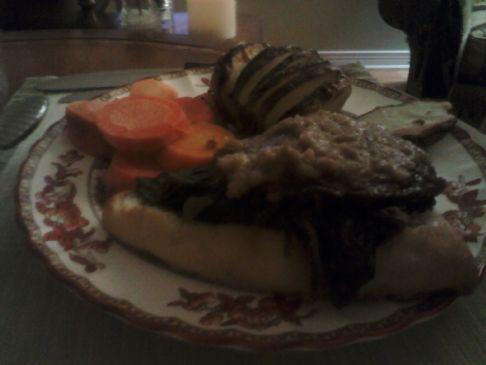Portebella Mushroom and Spinach