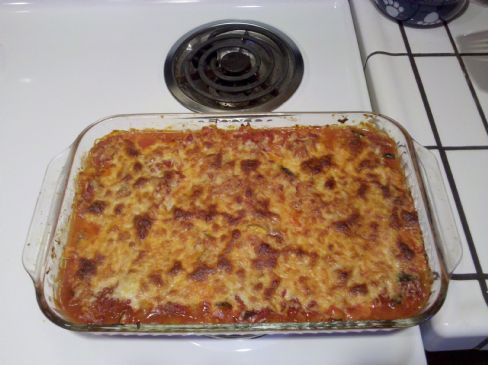 Spaghetti Squash Bake w/ground turkey