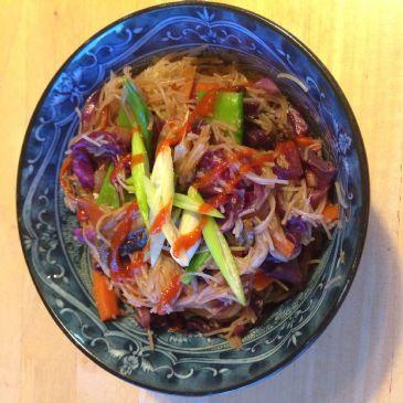 Vegan Pancit Bihon -Stir fry with rice noodles