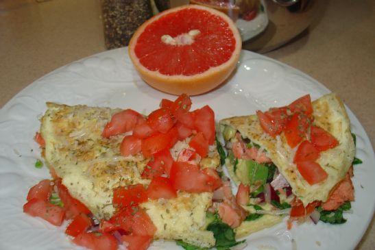 Smoked Salmon Omelete