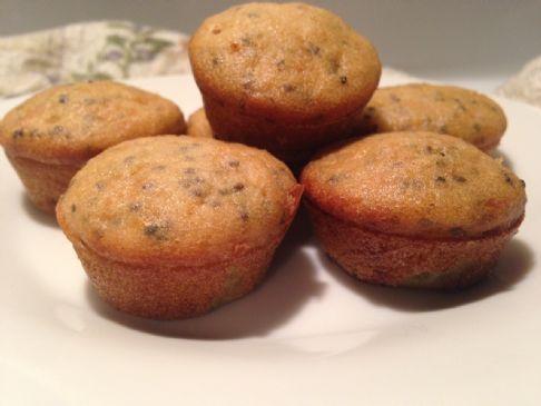 Sugar Free Lemon Chia Seed Mini Muffins