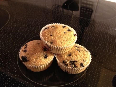 Delicious low calorie blueberry muffins