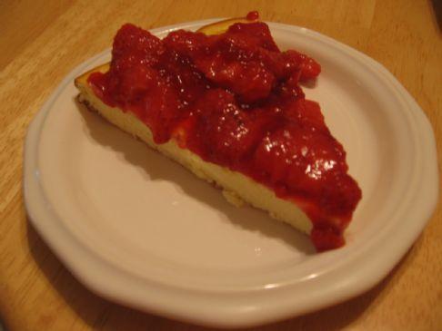 Strawberry Ricotta cheese cake (losingjess)