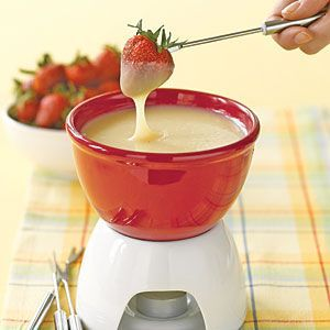 White Chocolate Amaretto Fondue