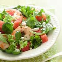 Shrimp, Watermelon and Feta Salad