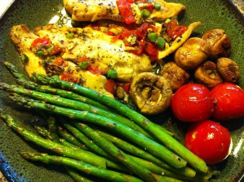 Tilapia Grill with Veggies