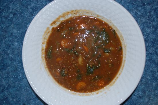 Lentil, Spinach and Curry Soup