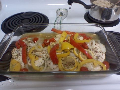 Savory Roasted Chicken with Veggies