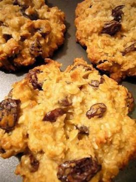 Oatmeal Cookies, No Added Fat or Sugar, Gluten Free