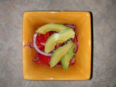 Tomato - Onion - Avocado Salad